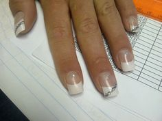 French tips with slight bling
