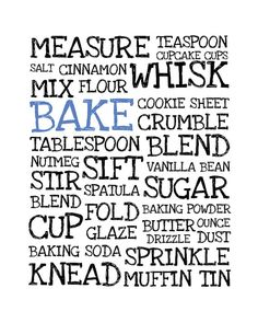 Kitchen Art Print- to modify with diff. colors...