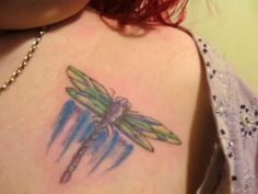 Applying Pretty Shoulder Tattoos for Women: Dragonfly Shoulder Women Tattoo Design ~ tattooeve.com Tattoo Ideas Inspiration