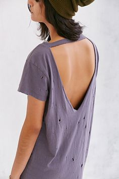 Truly Madly Deeply Super-Distressed Tee Dress.  the back cut...not the mega distress...