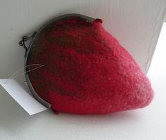 strawberry purse from Nancy Shafee