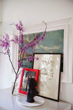 The-Makerista-Spring-House-Tour-Flowers-Branches-Poppy-Pink-Vignette-Portrait-Bust
