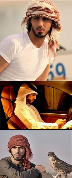 Omar Borkan Al Gala, not cute, but SUPER fricken sexy. ~ throw in a turban and a hawk to accessories....