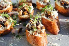 Crostini med shitake och parmesancremé | Daniel Lakatosz matblogg