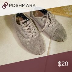 Shoes Gray toms cordones gently worn Toms Shoes Sneakers