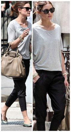 Only Olivia can make a gray t-shirt glamorous!