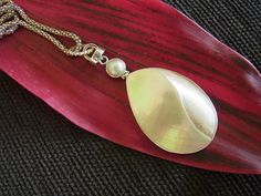 South Sea Cockle Shell and Mabe Pearl Pendant by balijewels, $45.00