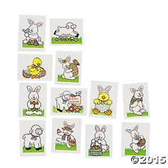 Easter Glitter Tattoos - 72 Pk Party Supplies Canada - Open A Party $4.99
