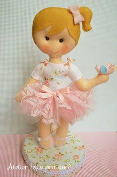 Boneca menina jardim encantado | Atelier feito pra você by Ana Ribeiro | Elo7