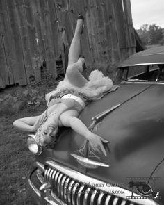 Charlie - Pinup Classic Car Shoot Rockabilly Cars, Pinup, Classic Cars, Eye, Baseball, Sports, Women, Hs Sports, Sport