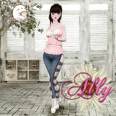 Visit the Ally Margarita Shop     http://es.imvu.com/shop/web_search.php?manufacturers_id=106090427    Top: ! !! Sweet Top #Pink    http://es.imvu.com/shop/product.php?products_id=33461552    Jeans: ! !! Jean Bows RL    http://es.imvu.com/shop/product.php?products_id=39019206    Hair: ! !! Long Pig Tail Brown    http://es.imvu.com/shop/product.php?products_id=32776398    Earrings: ! !! Kala Earrings    http://es.imvu.com/shop/product.php?products_id=38254527    Shoes: ! !! Leater #White…