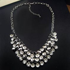 Women's+Diamond+Bib+Necklace+–+USD+$+19.49