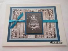 Christmas card made using the Cosy Christmas members pad by Kanban Crafts.