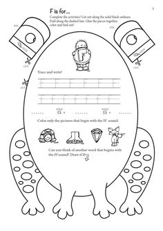 FREE templates (A4&A3) for a frog craftivity with embedded phonics activities!