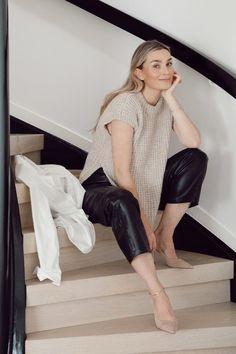 Camilla Pihl Strikk Camilla, Leather Skirt, Sapphire, Vest, Knitting, Skirts, Design, Diy, Fashion