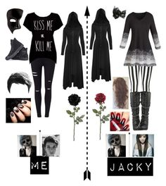 """""""Me and Jacky Going to our funeral XD"""" by potatolover123 ❤ liked on Polyvore featuring interior, interiors, interior design, home, home decor, interior decorating, Miss Selfridge, Masquerade, Rotten Roach and Converse"""