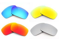 0136a69f25 New VL Polarized 4 Pair Combo Pack Replacement Lenses for Oakley X Squared  Sunglasses P1 Visionary Lenses.  79.99