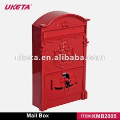 Brand Name High Quality Red Wall Mounted Cast Iron Decorative Mail Boxes Outdoor Mailbox Aluminium Letter Box - Buy Decorative Mail Boxes,Cast Iron Wall Mailbox,Craft Metal Mailbox Product on Alibaba.com