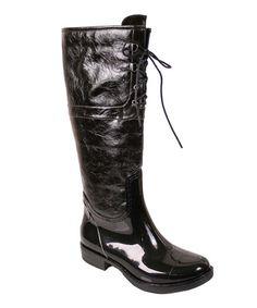 Black Harley Rain Boot #zulily #zulilyfinds