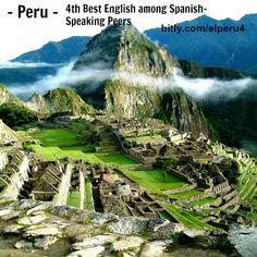 #Peru has the 4th highest level of #English proficiency (dominio del #inglés) in the #Spanish-speaking world. Read more at http://espanol.businessenglishace.com/peru4. #machupichuu #súdamerica #southamerica #americadelsur #español #inglés de negocios #businessenglish
