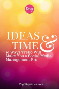 10 ways to use Trello to get your social media and blog organized! http://pegfitzpatrick.com/10-ways-trello-will-make-you-a-social-media-management-pro/