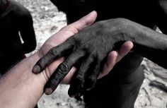 This gives you somewhat of an idea how dark they are...(Jarawan Tribe, India)