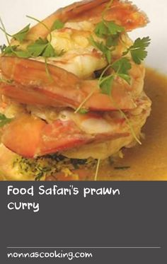 Food Safari's prawn curry | Peter Kuruvita's prawn curry is a creamy, velvety dish with delicious depth of flavour. This is achieved by including prawn pieces in the curry sauce (to be strained out with the aromatics later) and pureeing and straining a few heads just like in a French bisque. The recipe includes Peter's impressive serving suggestion of nestling pairs of prawns into each other to create a seafood version of the yin–yang symbol, all stacked up and served in a moat of sauce…