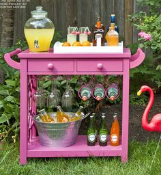 It's quite a cool concept to create a bar. The easiest way to do a bar is to receive one particular cart in this way. If you'd like to go for a lower bar, there are various size choices for bar stools that you are able to find at various stores. Mini Bars, Outdoor Bar Cart, Backyard Bar, Backyard Parties, Backyard Ideas, Garden Ideas, Backyard Retreat, Pool Ideas, Outside Bars
