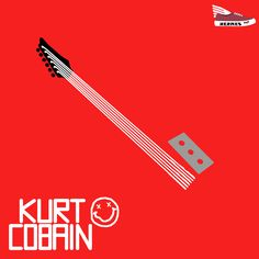 """Kurt Cobain"" #art #kurtcobain #nirvana #music #muzyka #illustration #poster #plakat #polishillustration #grafika"