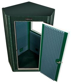 Our five sided Diamond Series VocalBooth, with non parallel walls in a single or double wall design, is ideal for any recording or sound isolation application Home Recording Studio Setup, Recording Booth, Home Studio Setup, Music Studio Room, Studio Desk, Sound Studio, Studio Furniture, Audio Studio, Diy Vocal Booth