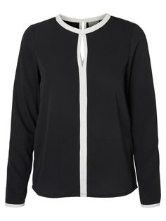 Classic blouse from VERO MODA. Match with a high waist black skirt or jeans and wear a blazer on top.