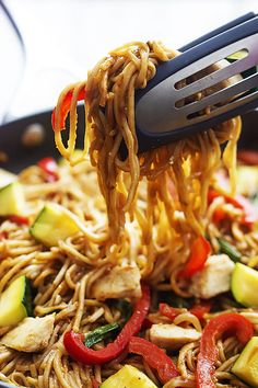 The BEST homemade chicken lo mein - way better than restaurant versions and so easy to whip up at home!