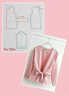 24 Best Ideas For Sewing Blouse Diy Dress Sewing Patterns, Blouse Patterns, Sewing Patterns Free, Sewing Tutorials, Clothing Patterns, Blouse Sewing Pattern, Free Pattern, Skirt Sewing, Skirt Patterns