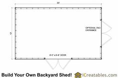 12x16 Lean to shed plans floor plan