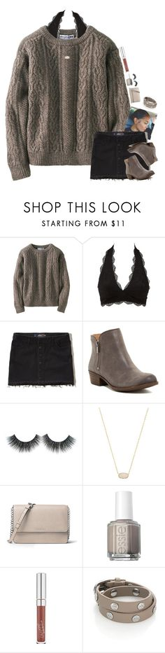 """""""My jam at the moment!!"""" by kennamber on Polyvore featuring Uniqlo, Charlotte Russe, Hollister Co., Lucky Brand, Kendra Scott, MICHAEL Michael Kors, Essie, ColourPop and Tory Burch"""