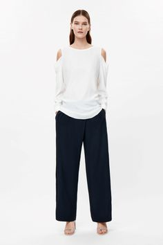 99€ COS   Open-shoulder silk top