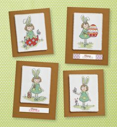 Print off these free patterned papers from CrossStitcher - perfect for Easter cards!