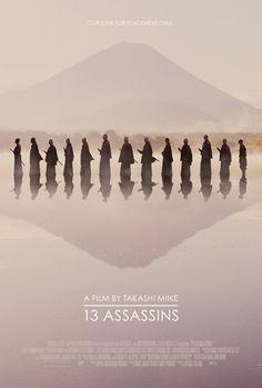 """MP430. """"13 Assassins"""" Movie Poster by Akiko Stehrenberger (Takashi Miike 2010) / #Movieposter"""