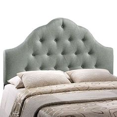 LexMod Sovereign Queen Fabric Headboard, Gray (Adilaes room?)
