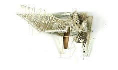 dimensional laser cut paper architectural drawings by ben cowd + sara shafiei of saraben studio Folding Architecture, Maquette Architecture, Bartlett School Of Architecture, Architecture Drawings, Sustainable Architecture, Rendering Drawing, Laser Cut Paper, Laser Cutter Projects, London Models