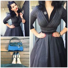 Amazing Pin-up outfit inspiration by Miss Victory Violet. #rockabilly #pinup