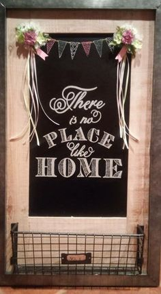 There's no place like home.  Reuseable home decor.  Chalk Couture.