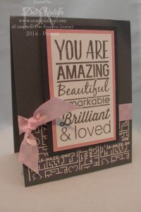 more information on my blog www.stampladee.com You Are is the stamp set with Fun Stampers Journey and Deb Valder
