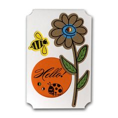 Hello Flower Bee Mini Card