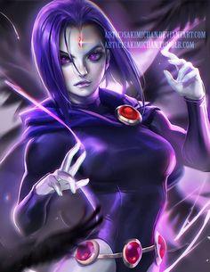 Raven from Teen Titans! artist: Sakimi Chan