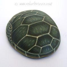 Main unique peint Sea Turtle Rock par Roberto par RobertoRizzoArt