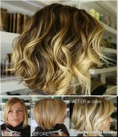 Cute cut. Ombre on short hair.