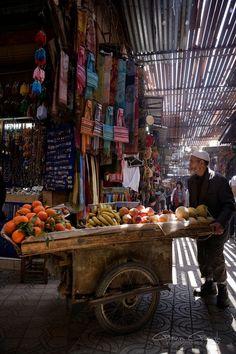 Souk in Marrakesh, Morocco.