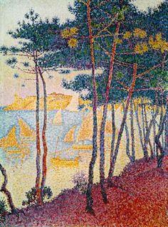 Pins et voiliers, Paul Signac (French, 1863-1935)