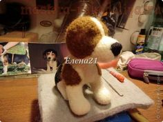Master class on felting: Puppy Beagle.  Part 1 - The torso and head